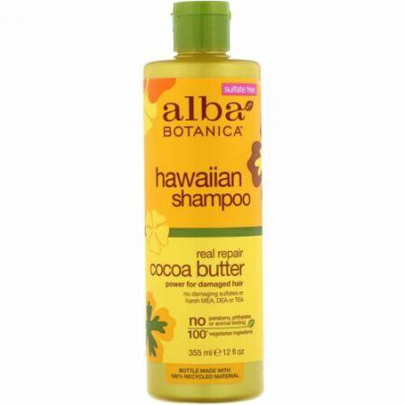 Alba Botanica, Hawaiian Shampoo, Real Repair Cocoa Butter, 12 fl oz (355 ml) (Discontinued Item)