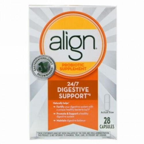 Align Probiotics, 24/7消化サポート、プロバイオティックサプリ、カプセル28粒 (Discontinued Item)