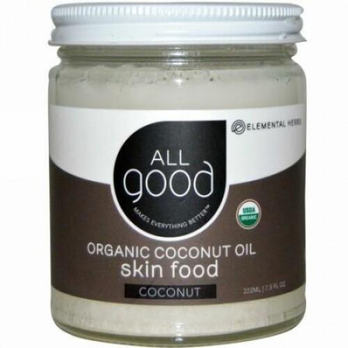 All Good Products, オーガニックココナッツオイル、スキンフード、ココナッツ、7.5液量オンス(222 ml) (Discontinued Item)