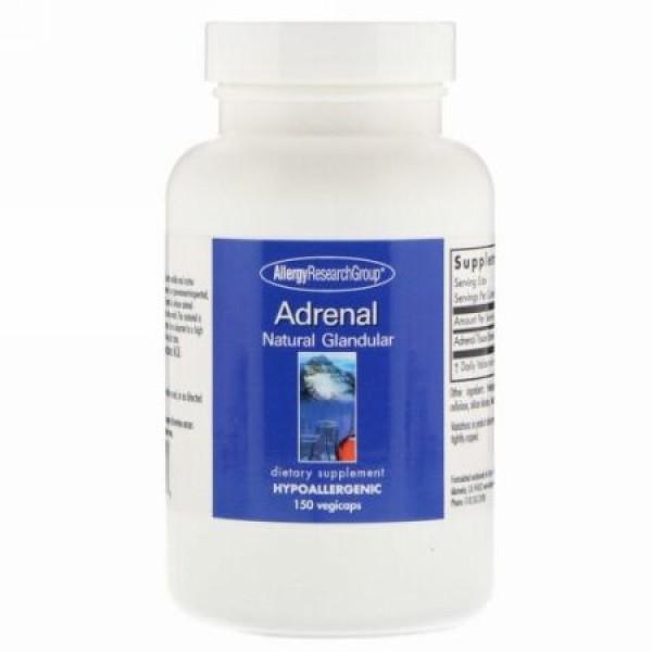Allergy Research Group, 副腎腺ナチュラル、植物性カプセル150粒