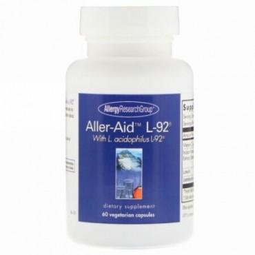 Allergy Research Group, L.乳酸菌 L-92配合アラーエイド L-92、60ベジタリアンカプセル
