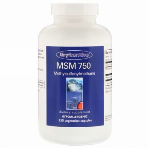 Allergy Research Group, MSM 750、150ベジタリアンカプセル (Discontinued Item)