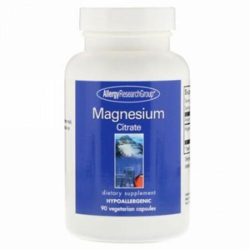 Allergy Research Group, クエン酸マグネシウム、 90ベジキャップ