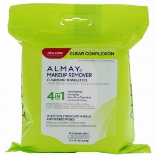 Almay, クリアーコンプレッション・メイクリムーバークレンジングタオレット、ウルトラソフト25枚 (Discontinued Item)