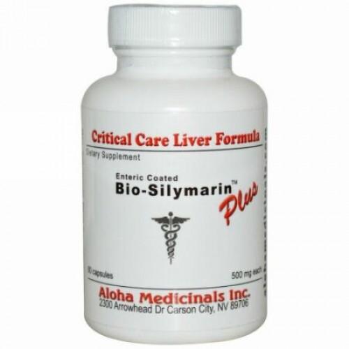 Aloha Medicinals, Bio-Silymarin™(バイオ シリマリン)プラス、500 mg、60カプセル (Discontinued Item)