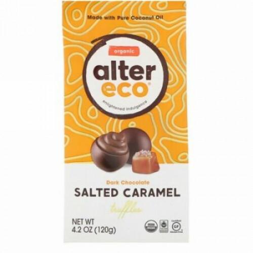 Alter Eco, オーガニック ソルト・キャラメル・トリュフ, ダークチョコレート, 4.2 オンス (120 g)