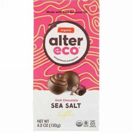 Alter Eco, オーガニック シーソルト・トリュフ, ダークチョコレート, 4.2 オンス (120 g)