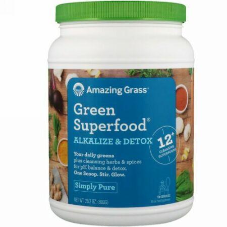 Amazing Grass, Green Superfood(グリーンスーパーフード)、phバランス&デトックス、800g(28.2オンス)