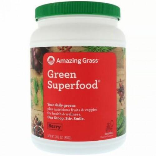 Amazing Grass, Green Superfood(グリーンスーパーフード)、ベリー、800g(28.2オンス)