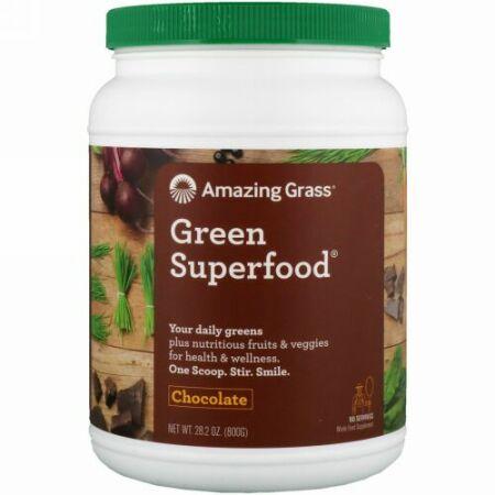 Amazing Grass, グリーンスーパーフード®, チョコドリンクパウダー, 28.2 オンス (800 g)