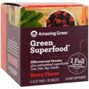 Amazing Grass, グリーンスーパーフード、エファーヴェセントグリーン、ベリー味、6本、各10錠 (Discontinued Item)