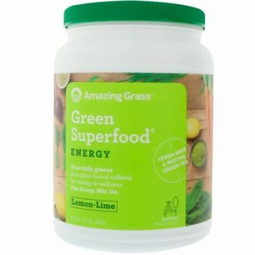 Amazing Grass, Green Superfood, Energy, Lemon Lime, 24.7 oz (700 g)