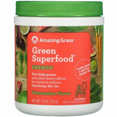 Amazing Grass, グリーン・スーパーフード®, エネルギー, スイカ, 7.4 オンス (210 g)