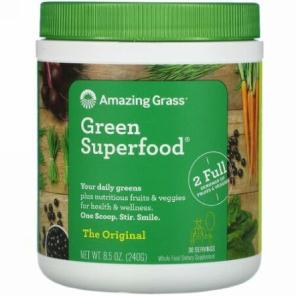 Amazing Grass, グリーンスーパーフードオリジナル、8.5オンス (240 g)