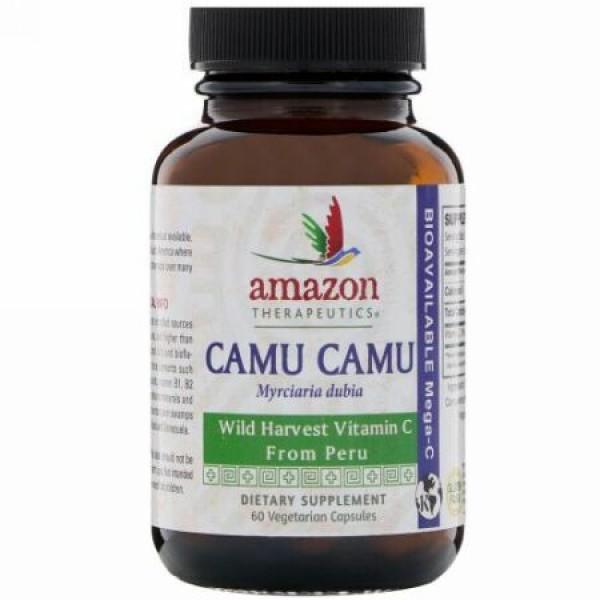 Amazon Therapeutics, カムカム、ベジタリアンカプセル60個 (Discontinued Item)