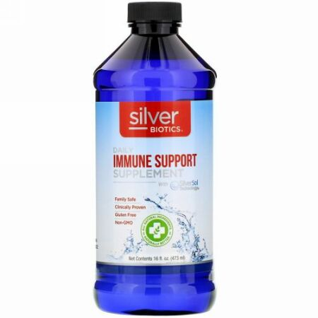 American Biotech Labs, Silver Biotics,  Daily Immune Support Supplement with SilverSol Technology, 16 fl oz (473 ml)