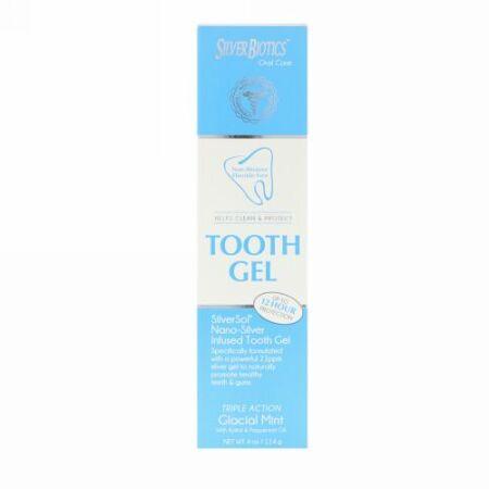 American Biotech Labs, SilverSol 歯磨きジェル、 キシリトール配合、 グラシアルミント、 4 液量オンス (118 ml)