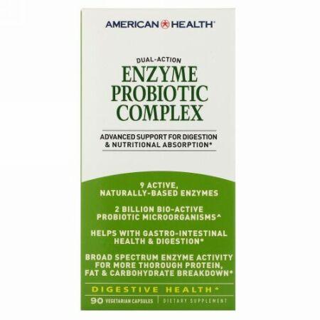 American Health, 酵素プロバイオティクス複合体, 90ベジタリアンカプセル
