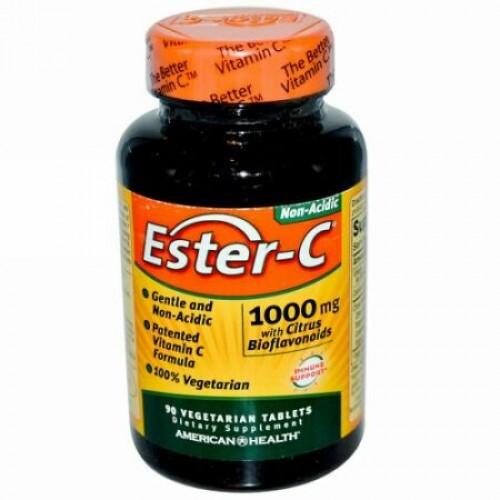 American Health, Ester-C(エスターC)、1,000mg、ベジタブレット90粒