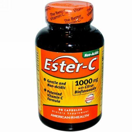 American Health, Ester-C(エスターC)、柑橘系バイオフラボノイド配合、1,000mg、90粒