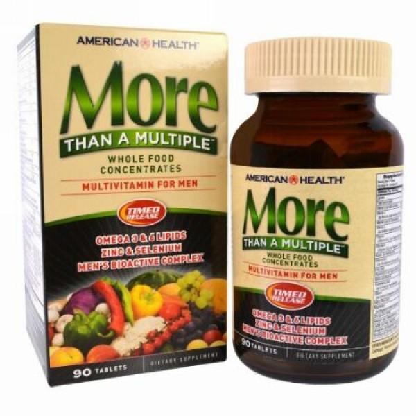 American Health, モア・ザン・ア・マルチプル、男性用マルチビタミン、90錠 (Discontinued Item)