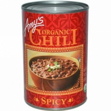 Amy's, オーガニックチリ、 スパイシー、 14.7オンス (416 g) (Discontinued Item)
