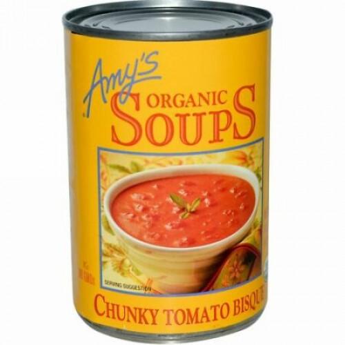 Amy's, オーガニックスープ, チャンキー・トマト・ビスク, 14.5 オンス (411 g) (Discontinued Item)