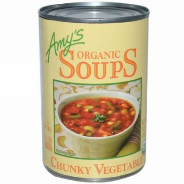 Amy's, オーガニックスープ, チャンキーベジタブル, 14.3 オンス (405 g) (Discontinued Item)