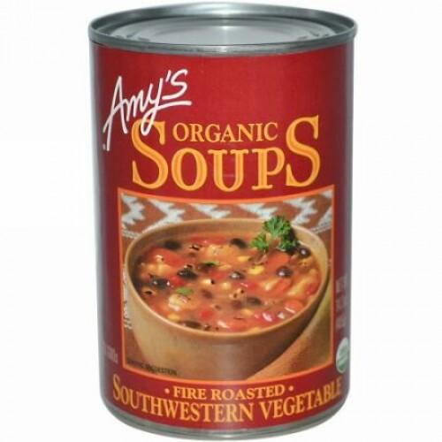 Amy's, オーガニックスープ, ファイヤーロースト, サザンウエスタン・ベジタブル, 14.3 オンス (405 g) (Discontinued Item)