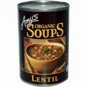 Amy's, オーガニック スープ、 レンズ豆、 14.5 oz (411 g) (Discontinued Item)
