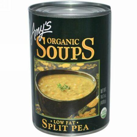 Amy's, オーガニック スープ、スプリットピー、 ローファット、 14.1 oz (400 g) (Discontinued Item)