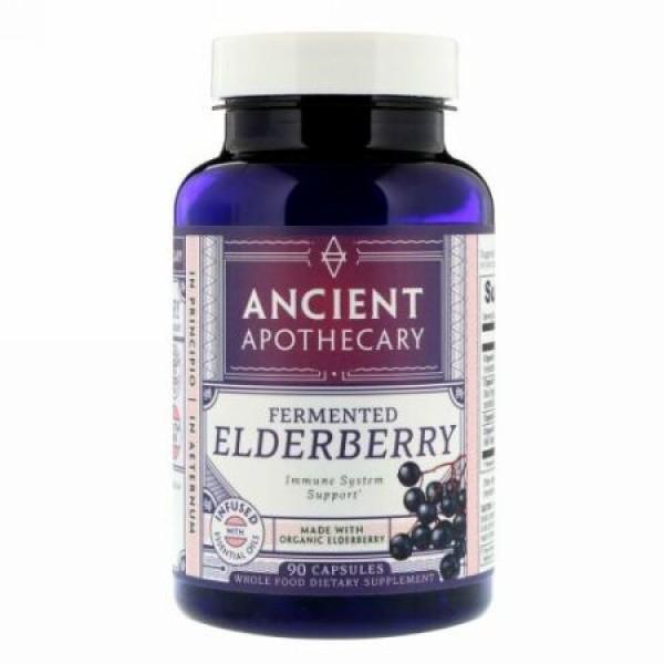 Ancient Apothecary, 発酵エルダーベリー、カプセル 90錠 (Discontinued Item)