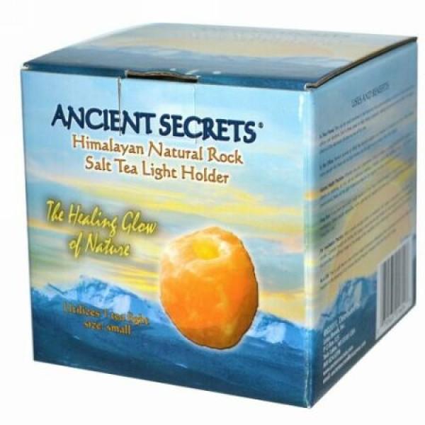 Ancient Secrets, ヒマラヤン・ナチュラル・ロック・ソルト・ティー・ライト・ホルダー、スモール、1ティー・ライト用 (Discontinued Item)