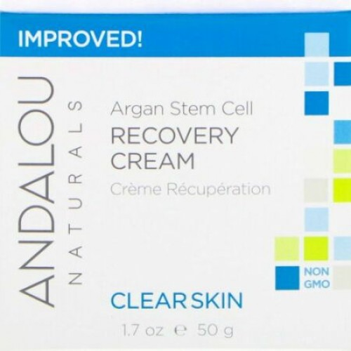 Andalou Naturals, アルガンステムセルリカバリークリーム、クリアスキン、1.7 fl oz (50 ml)