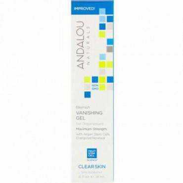 Andalou Naturals, ブレミッシュバニシング(シミ消し)ジェル、最高の効き目、明るいお肌へ、.6液量オンス (18 ml)