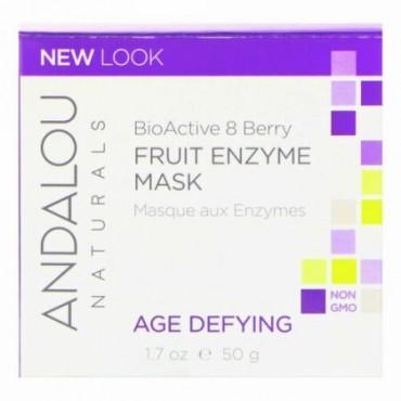 Andalou Naturals, フルーツ酵素マスク, 生物活性8液果複合体(BioActive 8 Berry Complex), 年齢に挑戦, 1.7オンス(50 g)