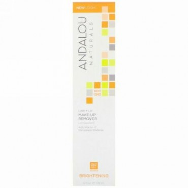 Andalou Naturals, ラッシュ + リッド・メイクアップ・リムーバー、ブライトニング、 6 液量オンス (178 ml)