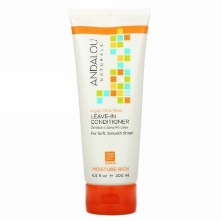 Andalou Naturals, Leave-In Conditioner, Argan Oil and Shea, 6.8 fl oz (200 ml)
