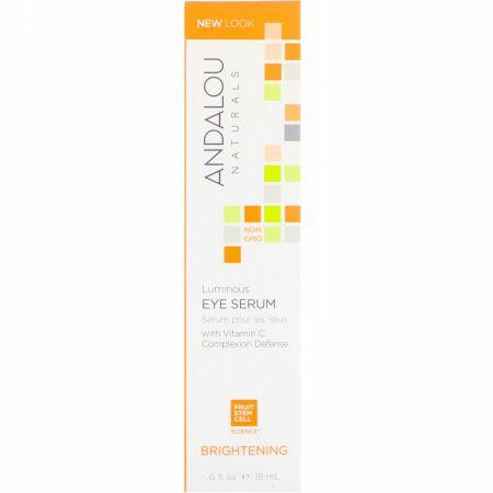 Andalou Naturals, ルミナスアイセラム(Luminous Eye Serum), 0.6液量オンス (18 ml)