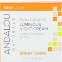 Andalou Naturals, 輝きのナイトクリーム、 紫ニンジン+ C、 1.7液量オンス (50 ml)