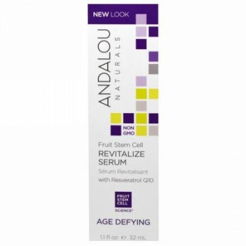 Andalou Naturals, レスベラトロールQ10で血液に活力を取り戻す, 加齢防止 , 1.1 オンス (32 ml)