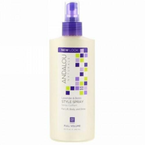 Andalou Naturals, Lavender & Biotin Full Volume Style Spray, 8.2 fl oz (242 ml)