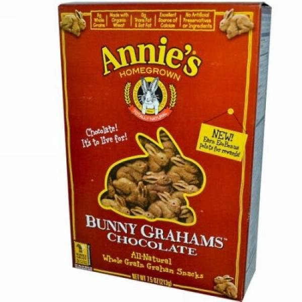 Annie's Homegrown, バニーグラハムズ, チョコレート, 7.5 オンス (213 g)