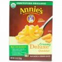 Annie's Homegrown, クリーミーデラックス・マカロニディナー, エルボーズ & クリーミー・マイルド・チェダーソース, 9.5 オンス  (269 g) (Discontinued Item)