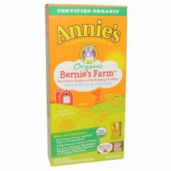 Annie's Homegrown, Organic, Bernie's Farm Macaroni & Cheese, 6 oz (170 g) (Discontinued Item)