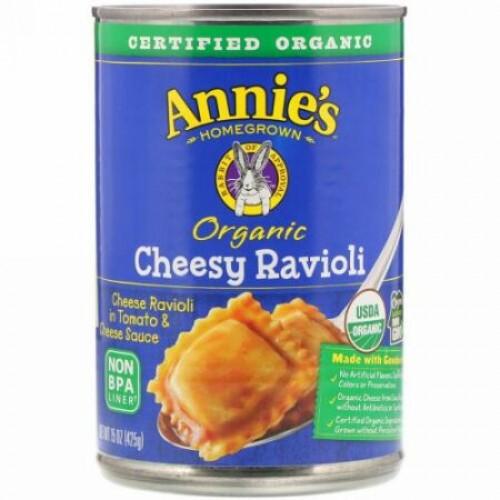 Annie's Homegrown, オーガニック・チージーラビオリ、 15 オンス (425 g) (Discontinued Item)
