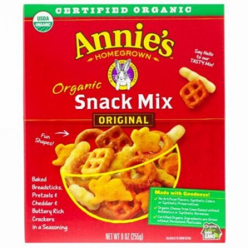 Annie's Homegrown, オーガニックスナックミックス、オリジナル、255 g(9 oz)
