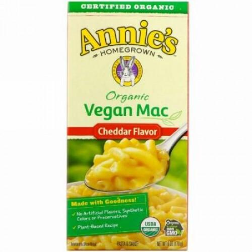 Annie's Homegrown, オーガニックビーガンマック、チェダー味、6 oz (170 g)