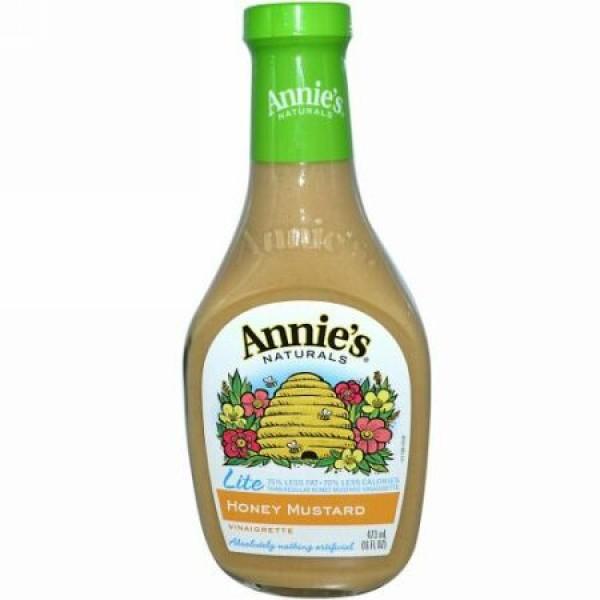 Annie's Naturals, ライト、 ハニー マスタード ドレッシング、 16 fl oz (473 ml) (Discontinued Item)