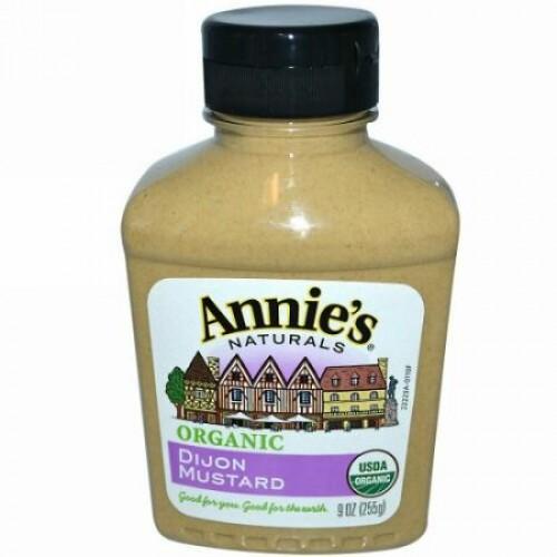 Annie's Naturals, オーガニックイエローマスタード, 9 oz (255 g)